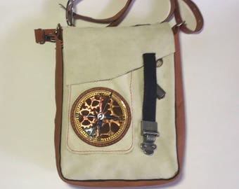 Steampunk Leather Purse / Shoulder Bag - hand made
