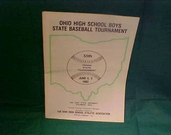 Bring Back The Years 1982 Ohio High School State Baseball Tournament Program  w/All the teams
