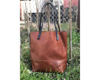 Limited Edition LARGE TOTE Saddle Brown • Leather Everyday Bag