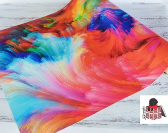 Swirl abstract wrapping paper sheets gift wrap rainbow GWWC11