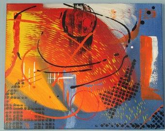 Acrylic Painting, Medium Wall Art, Canvas Art – 'Dead Star' Abstract by Kenneth Polisse Jr.