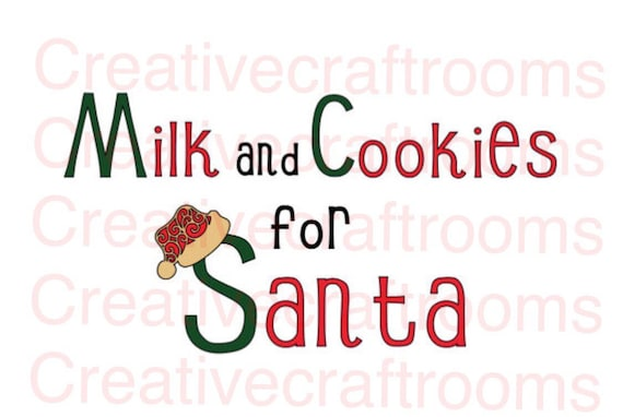 Milk and Cookies for Santa PNG, Milk for Santa, Christmas Png, Digital print and cut file, Santa png, Elf png, santa claus png, cookies png
