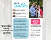 EDITABLE Home offer letter | Customizable cover letter for house buying offer | Rental application letter | Family home offer cover letter