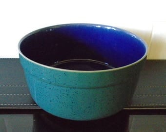 Denby Harlequin Souffle Dish Green and Blue