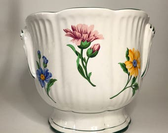 Tiffany White Floral Large Flower Pot Planter