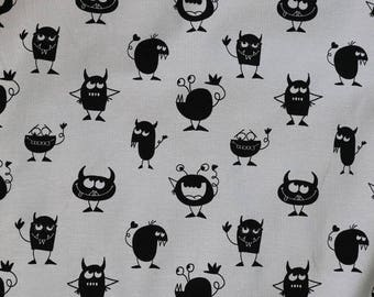 Fabric - jersey fabric - Grey monster print cotton/elastane knit