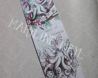 """Bookmark """"book of strange creatures"""" arboreal Octopus"""