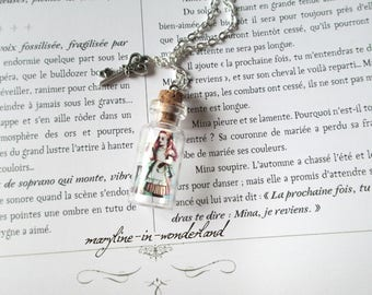 "Vial necklace ""Alice in Wonderland country"""