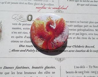Phoenix Firebird pin badge brooch