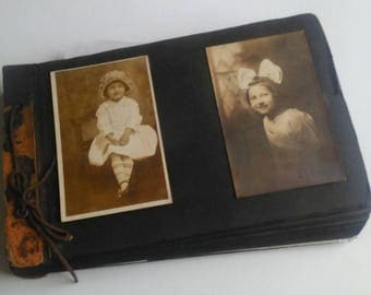 Antique Vintage B&W Snapshot Photo Album 1900s-1950s 220 Total Snaps Abstract Unusual Candid Animals