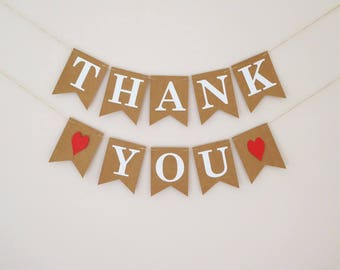 Thank You Bunting Banner Sign, wedding bunting decoration