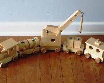 Wooden Construction Train