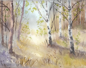 Lovely place LANDSCAPE Watercolor Painting
