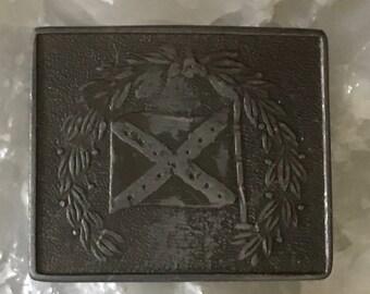 Indiana metal craft belt buckle bloomington vintage accessory