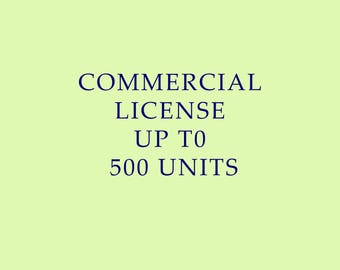 Commercial License - up to 500 units