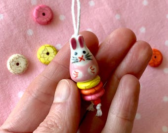 Cute Easter Bunny Necklace * Easter Gift * Easter Bunny Jewelry * Kids Jewelry * Rabbit Necklace * Easter Egg * Free Shipping