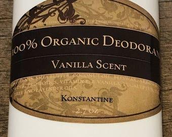 100% Organic probiotic vanilla scented deodorant (2.7 oz)@@@@@@@@@@@@@