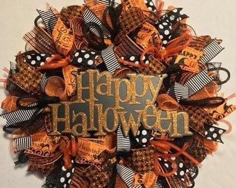 SALE Halloween wreath, Halloween wreath, Halloween wreaths, wreath, Halloween decor, Halloween door decor, Halloween, wreath, fall wreath, w