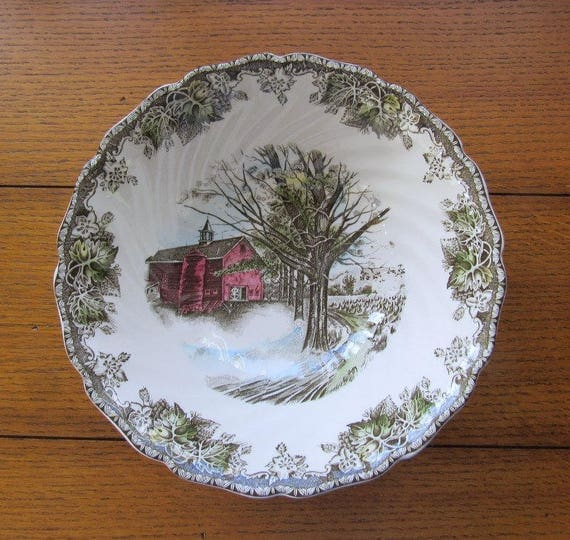 Friendly Village Serving Bowl  Autumn Mists Johnson Bros China