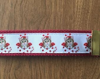 Cat Key Chain Zipper Pull Wristlet