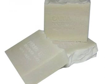 3 x CARIA Pure Castile Olive Oil Soap Bar Fragrance Free Traditional Turkish