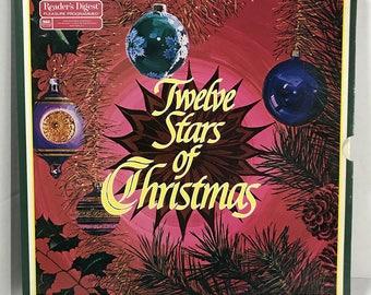 Twelve Stars Of Christmas 6xLP vinyl records NM Reader's Digest - Bing Crosby, Nat King Cole, Henry Mancini, Perry Como