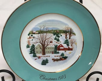 Christmas Plate Series for Avon by Wedgewood