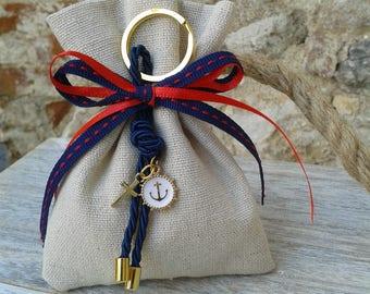 25 pcs nautical Baptism favor-linen bag Favor- anchor favor-koufeta bomboniera