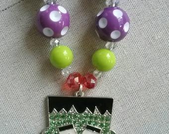 Frankenstein Bubble Gum Bead Necklace