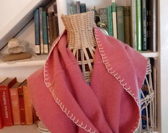 Cashmere Cowl, Up-cycled Cashmere, Pink Cashmere, Cashmere scarf, wool scarf, Scarves, Cowl, Scarf, cashmere, winter, re-fashioned cashmere