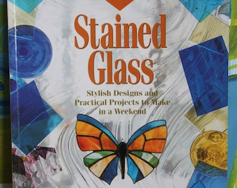 Vintage 1990s 500 Full-Size Stained Glass Patterns book