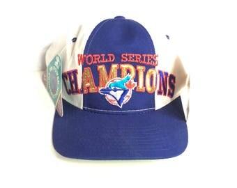 90s STARTER vintage Toronto Blue Jays World Series Champions snapback MLB Baseball Snap back hat cap Adjustable wool blend One Size fits all