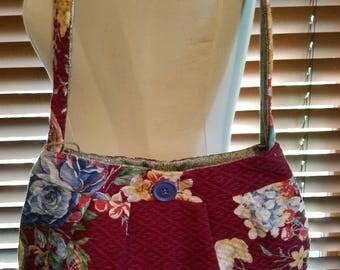 Vintage Barkcloth Small Bag