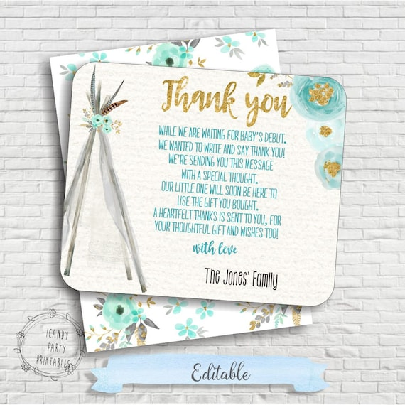 printable baby shower thank you cards akba greenw co