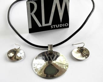 RLM Studios Retired One World Sterling Necklace and Earrings