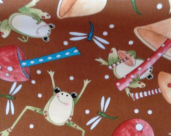 It's a pond party cotton fabric by Quilting treasures
