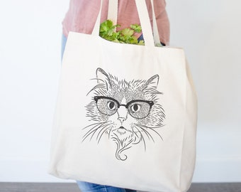 Daniel the Ragdoll Cat Canvas Tote Bag - Gifts For Cat Owner