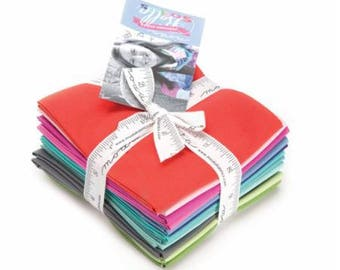 Bella Solids Designer Select Fat Quarter Bundle - Kate Spain for Moda 12 FQ