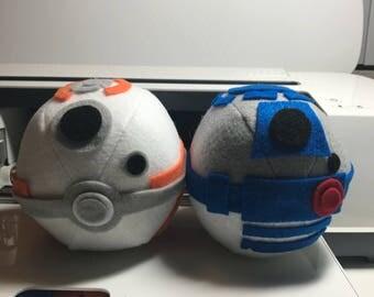 R2-D2 & BB-8 Custom Pokeball Pair