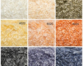 Mohair yarn, crochet yarn, knitting yarn, boucle yarn, weaving yarn, aran weight yarn, knit, worsted, crochet, crocheting, yarn, kid mohair