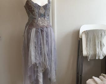 RESERVED !!!!Wedding dress Alternative lavender,wedding dress eco friendly,boho wedding dress lavender dream,bridal gown purple,fairy weddin