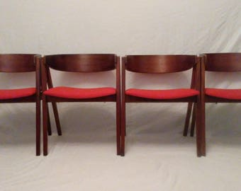 Allan Gould for Herman Miller set of four Compass Chairs