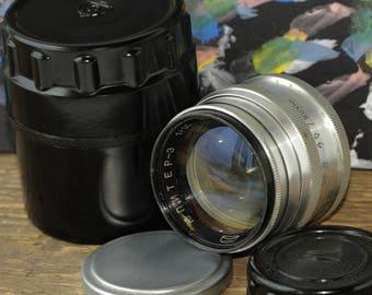 Jupiter-3 1.5/50mm Red P Russian Zeiss Sonnar RF Lens M39 Zorki Leica Sony NEX
