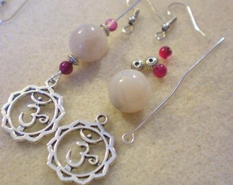 BO Zen Yoga KIT * Chakra and Fleur SAHASRARA * silver plated hooks