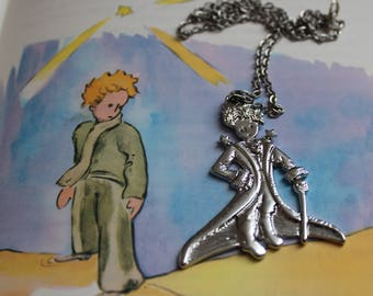A pendant and chain PETIT PRINCE silver-plated 5.5 cm x 4.5 cm