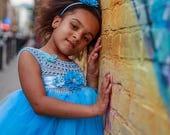 SALE Cinderella dress Tutu Princess Cinderella Cinderella Costume Cinderella Party Cinderella Blue dress Disney Cinderella