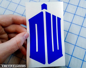 Doctor Who decal.. DW decal.. Doctor Who Inspired decal.. DW Tardis decal..