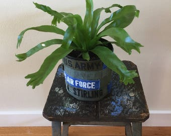 Military Name Tape  Plant Container