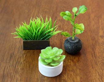 Set of 3 Miniature Vases - Modern Grasses Collection