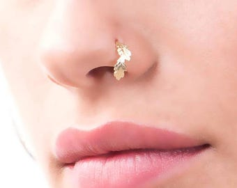 SALE15% Unique Nose Ring, Nose Ring, Nose Piercing, Nose Stud, Indian Nose Ring, Nose Hoop, Nose Jewelry, Gold Nose Ring, Tribal Nose Ring,